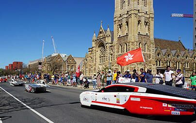 Oct.15, Event has been closed with Street parade and Award ceremony - 2017 Bridgestone World Solar Challenge Report (12)