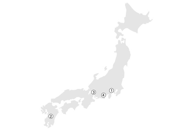 Location Map of Diversified Products Plants (Japan)
