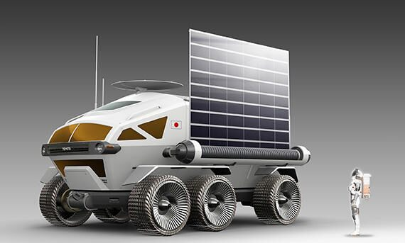 Manned, pressurized rover required for lunar surface mobility Courtesy of Toyota Motor Corporation