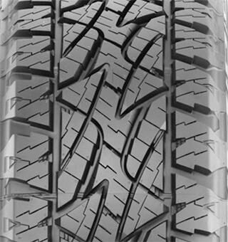Tread pattern of Bridgestone's DUELER A/T REVO 2 tires for sports utility