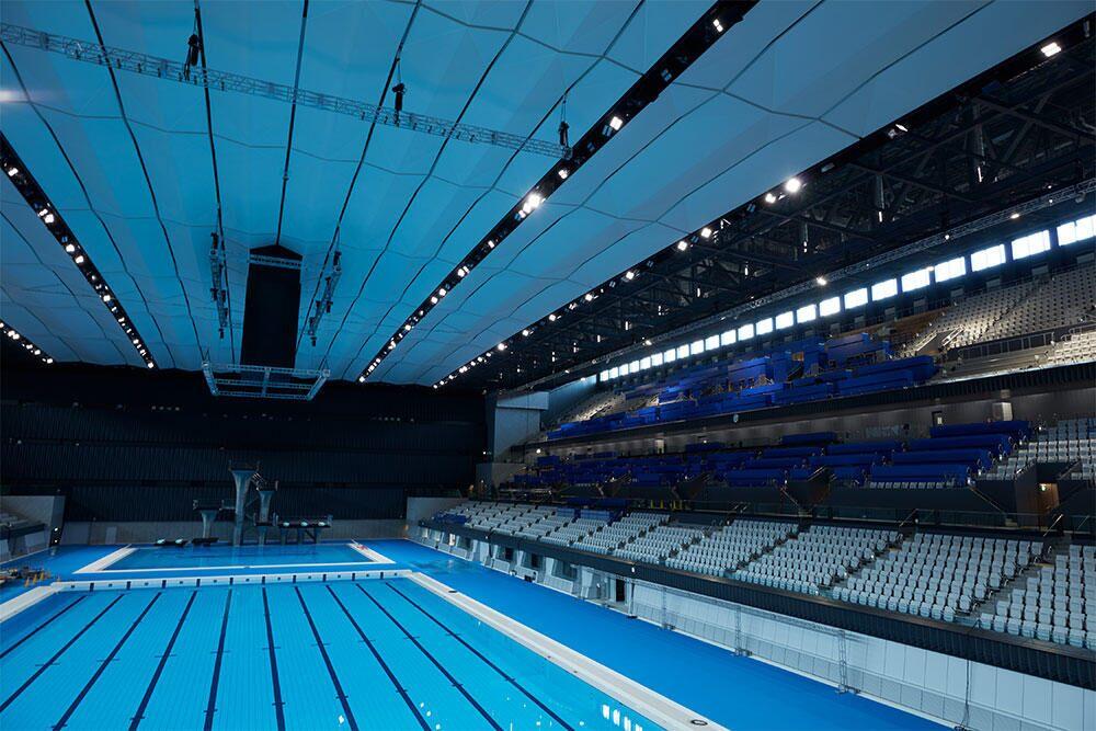 the Tokyo Aquatics Centre